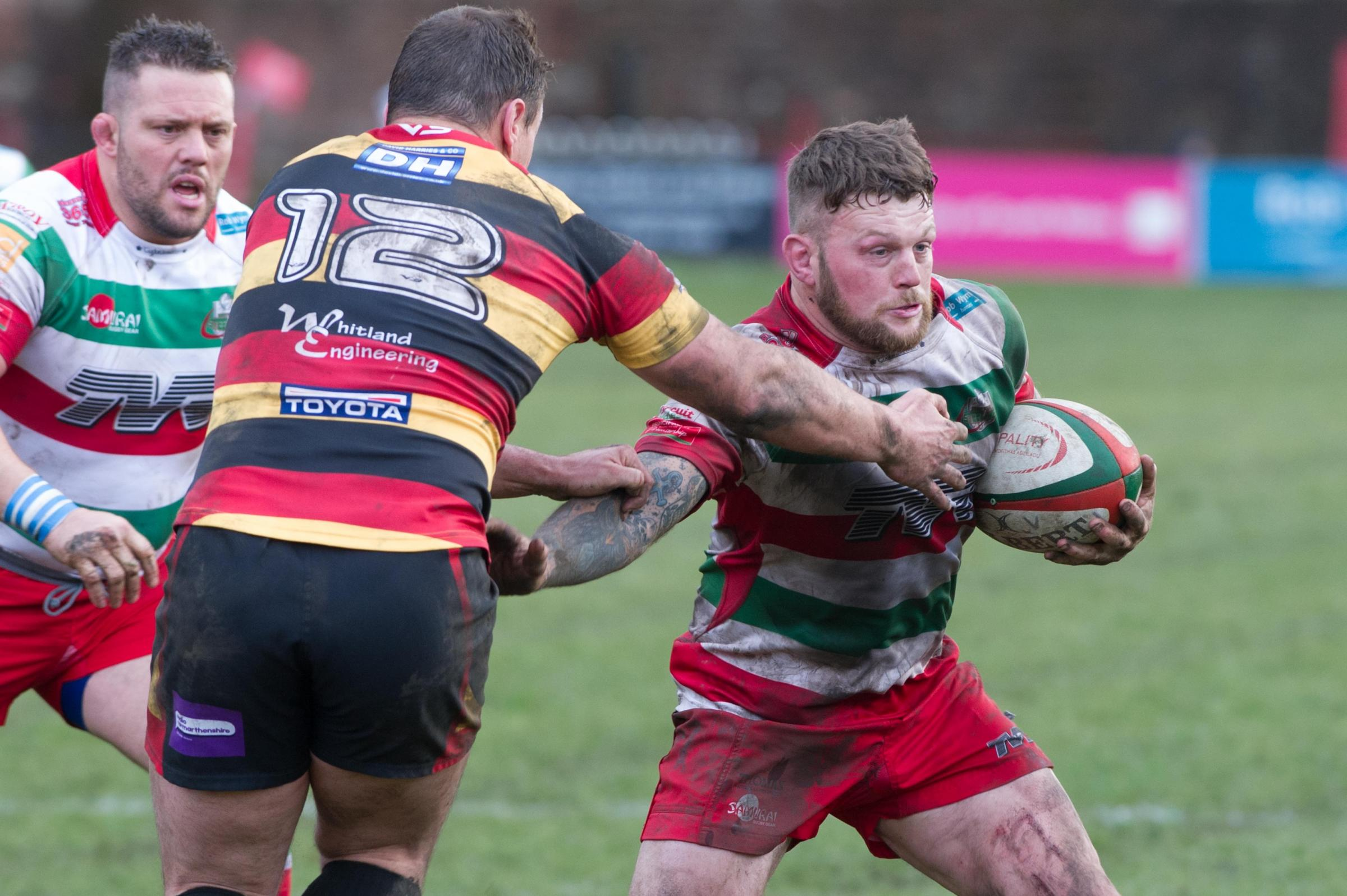 BLOW: Ronny Kynes made his 201st Ebbw Vale appearance against Carmarthen