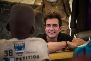 Unicef supporter Orlando Bloom meets families displaced by Boko Haram