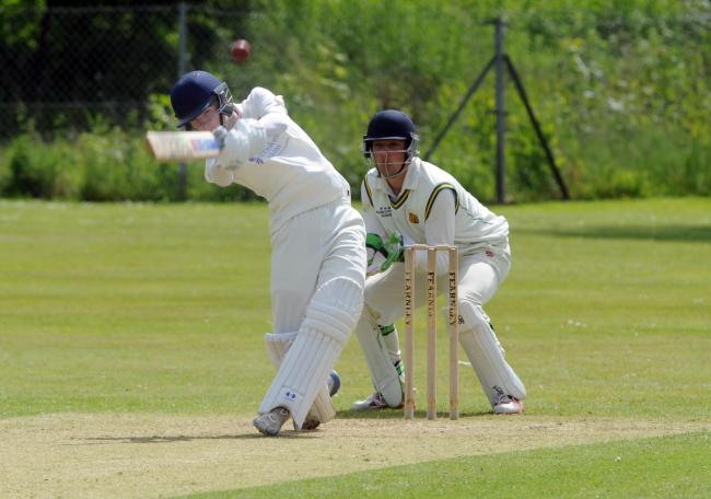IN FINE FETTLE: Ryan Ward (left) smashed a century for Malpas last weekend. Picture from files