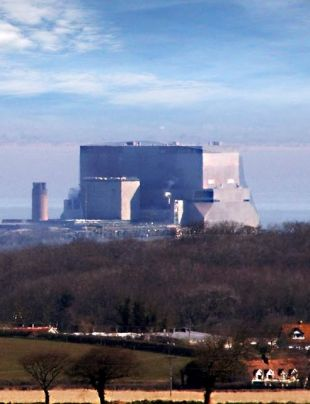 PROTEST: Hinkley Point nuclear power station in Somerset
