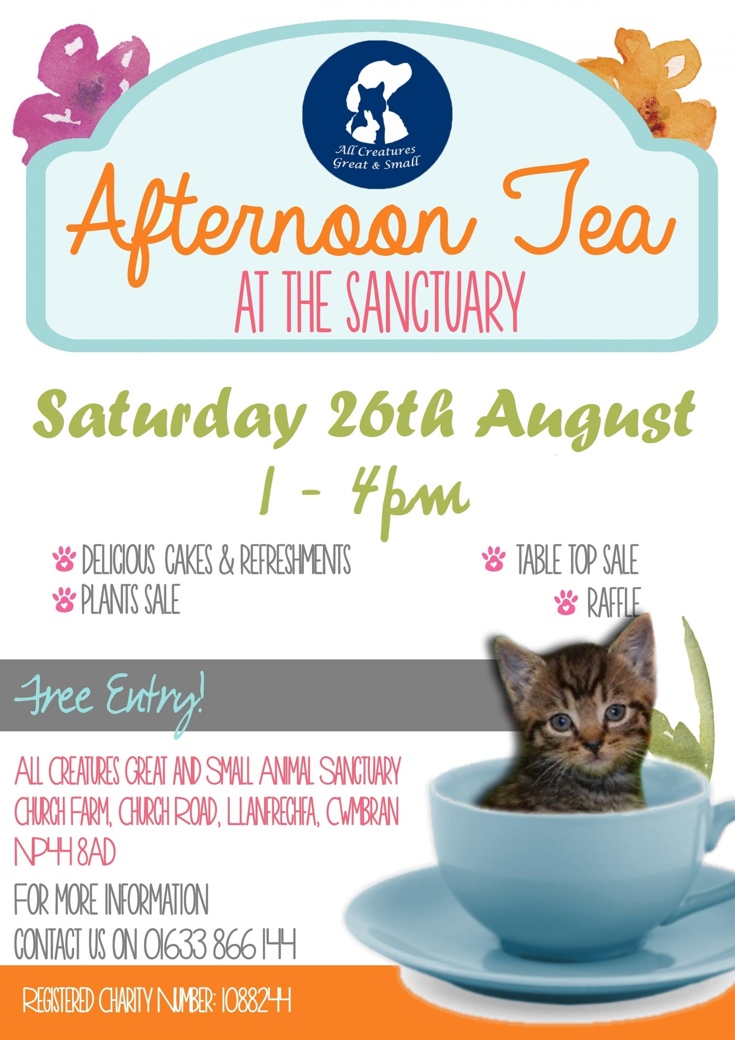 Afternoon Tea at the Sanctuary