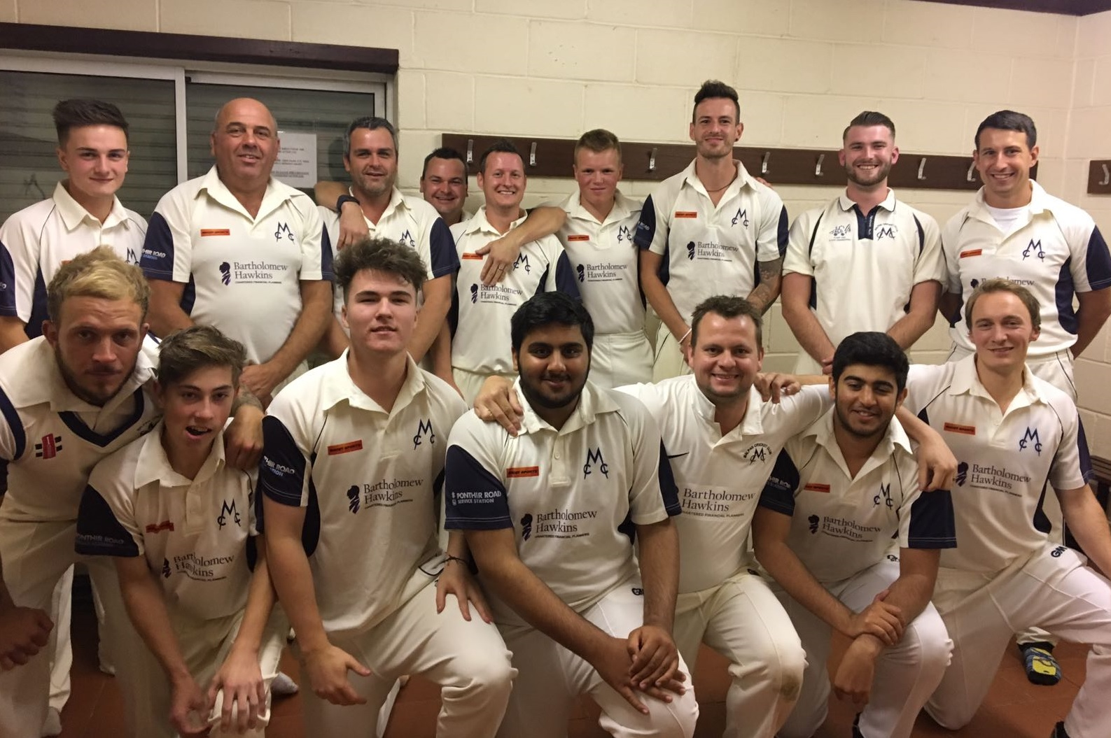 TITLE DELIGHT: Malpas celebrate winning the South East Wales League Division One crown