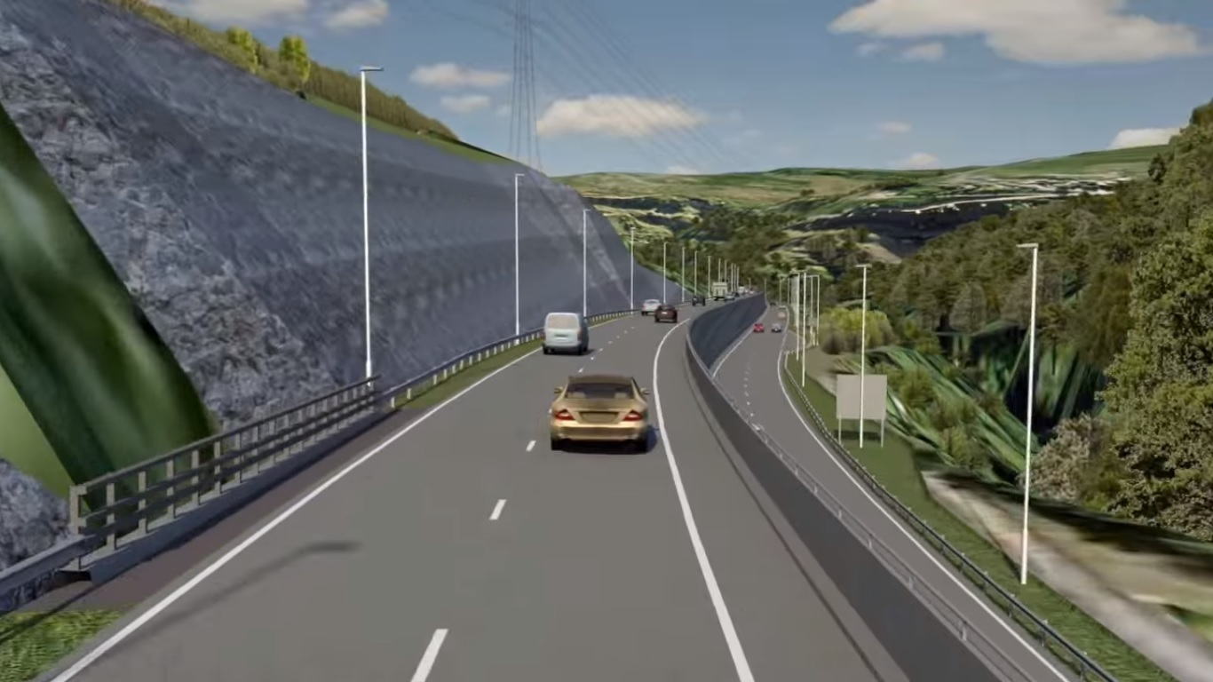 A still of a flythrough video of what the A465 will look like upon completion. Picture: Costain