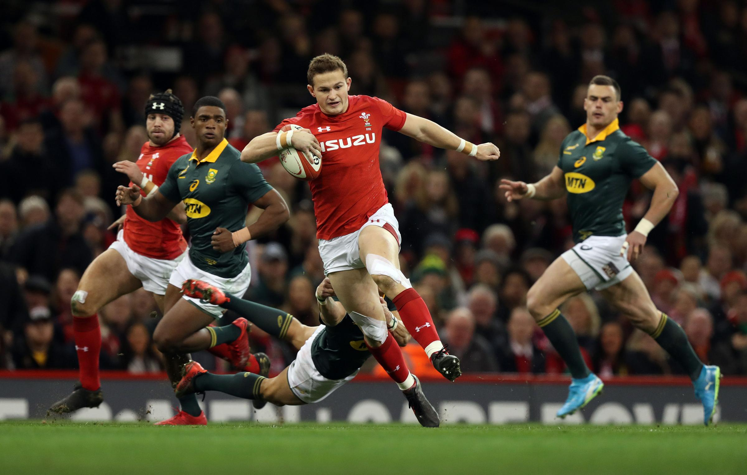 REUNION: Dragons wing Hallam Amos will hope to go up against South Africa again in June