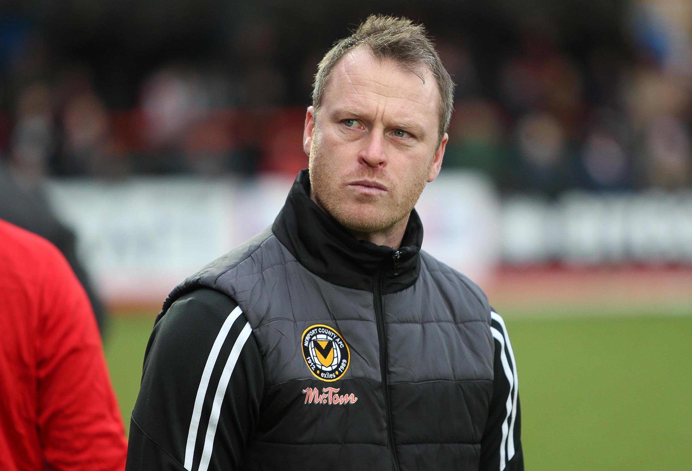 BUSY: Newport County manager Michael Flynn. Pictures: Huw Evans Agency