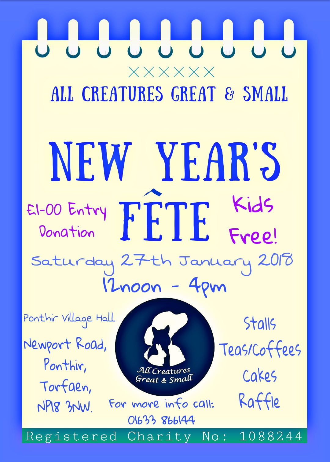 All Creatures Great & Small New Year's Fete