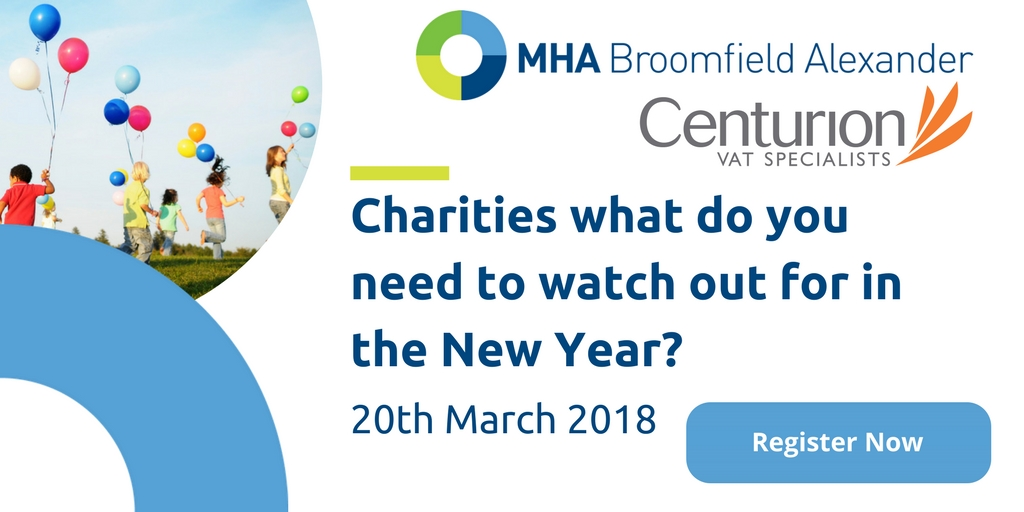 Charities what do you need to watch out for in the New Year?