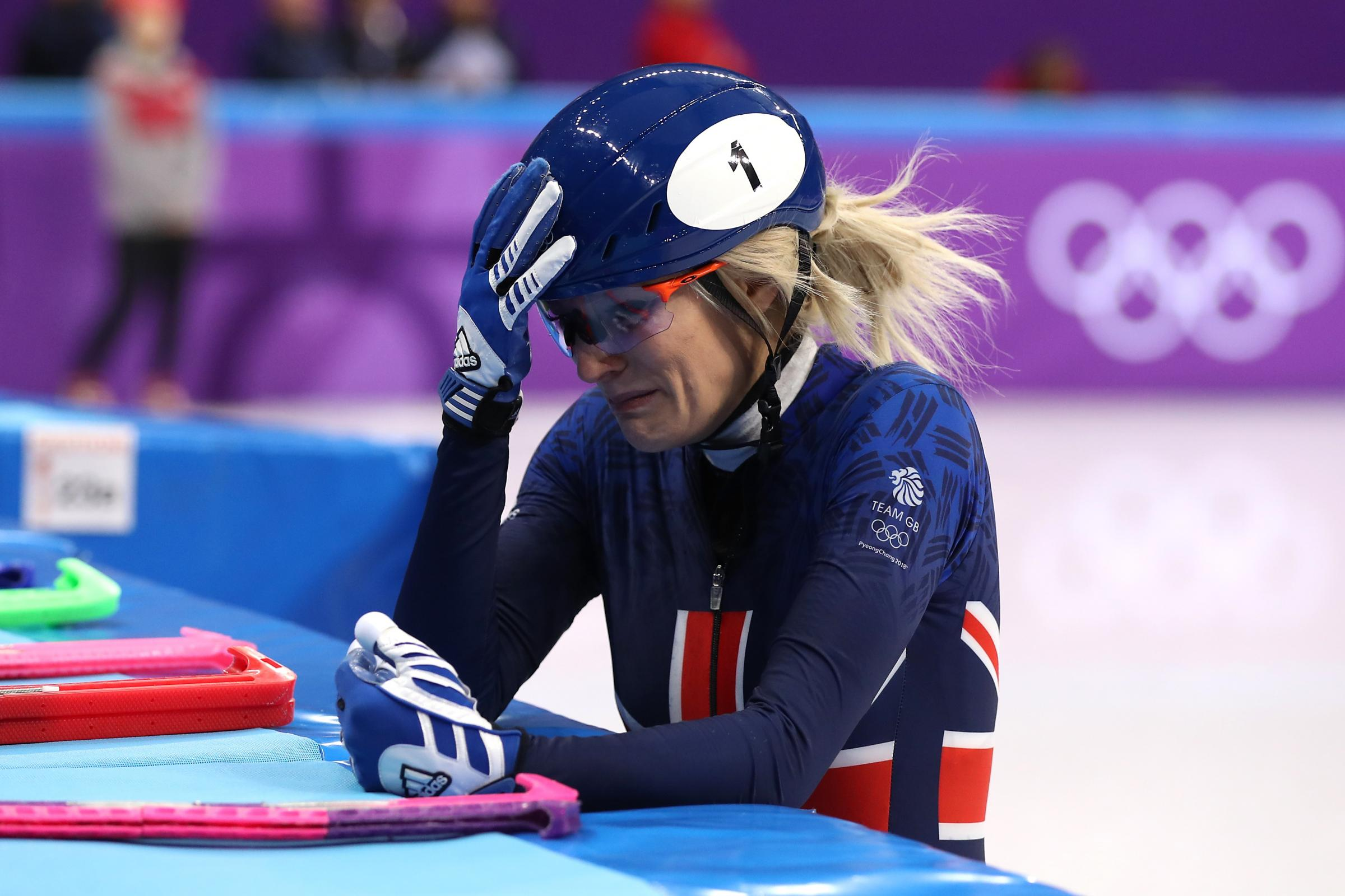 Great Britain's Elise Christie was tearful after another disappointing display at the Olympics (Mike Egerton/PA Images)