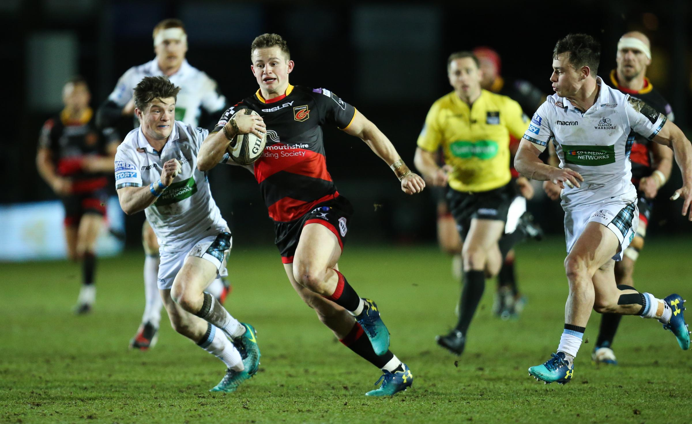 DESPERATE TO IMPRESS: Dragons wing/full-back Hallam Amos will be back in the red of Wales