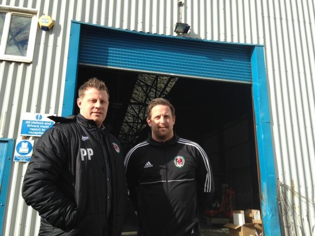 PLANS: Paul Parry and Darren Jones aim to open a new indoor 3G football centre in Newport next month