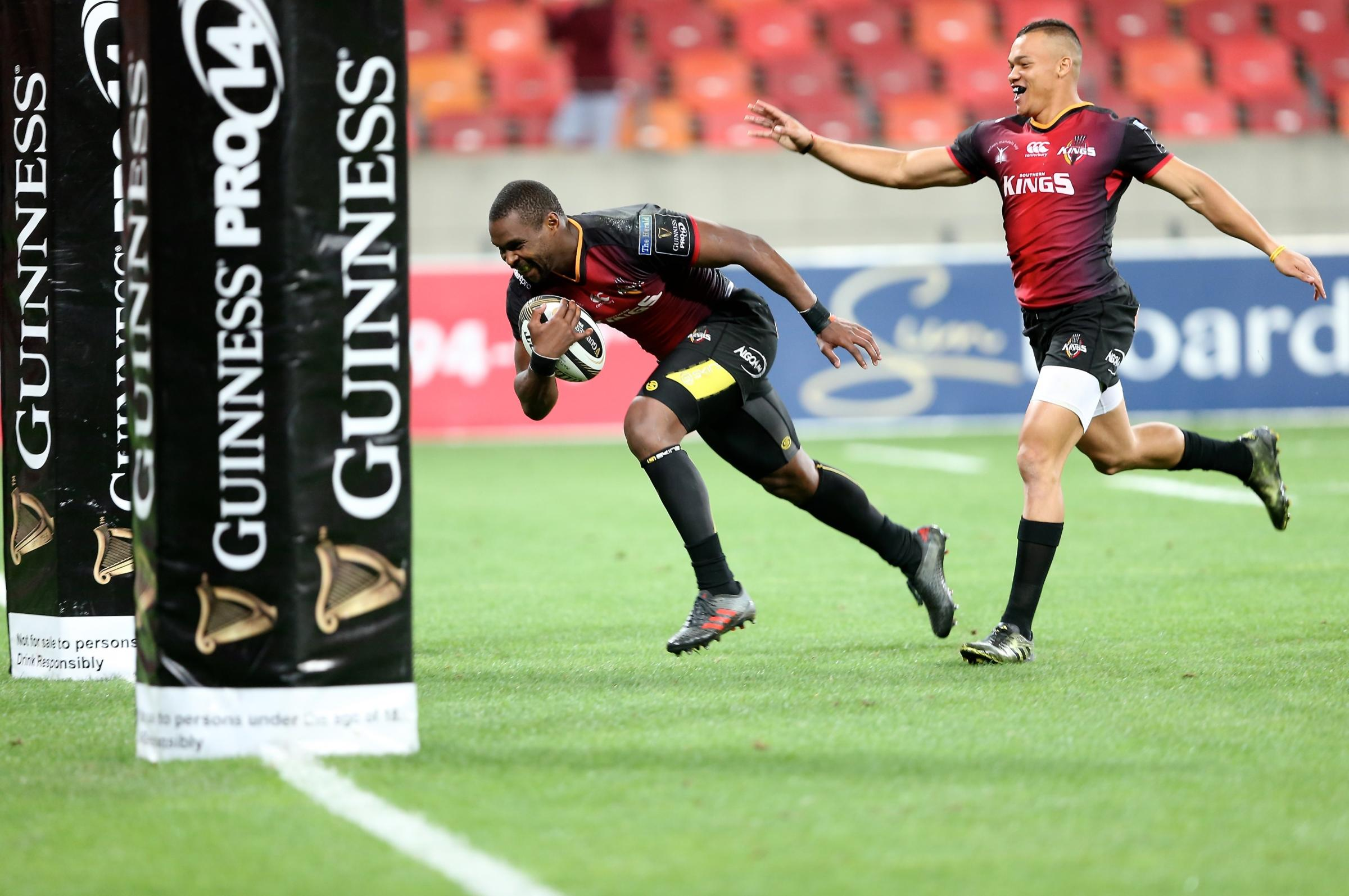 MISERY: Luzuko Vulindlu goes over in the Southern Kings' hammering of the Dragons. Picture: HUW EVANS AGENCY.