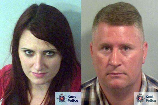 Mugshots of Britain First pair Jayda Fransen and Paul Golding