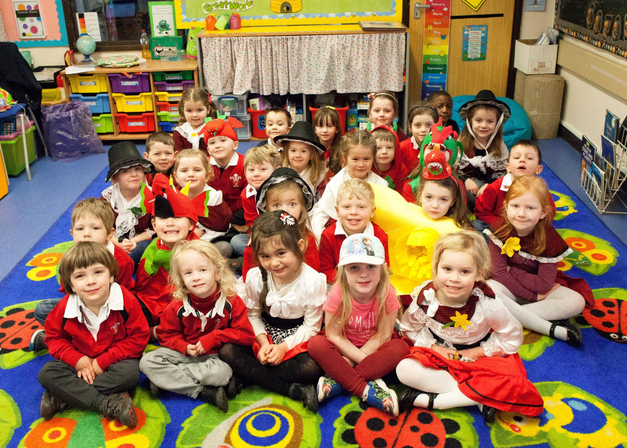 Ash class at Usk Church in Wales Primary School