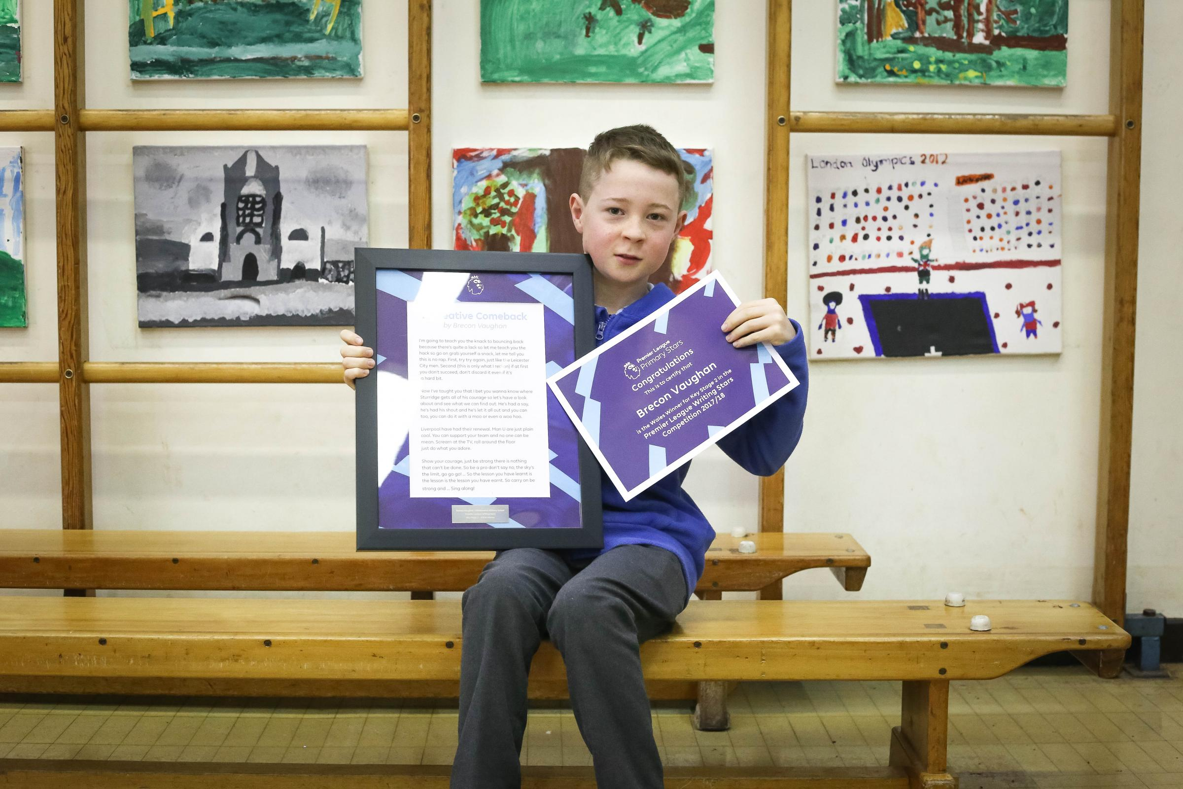 Writing Stars winner Brecon with his poem