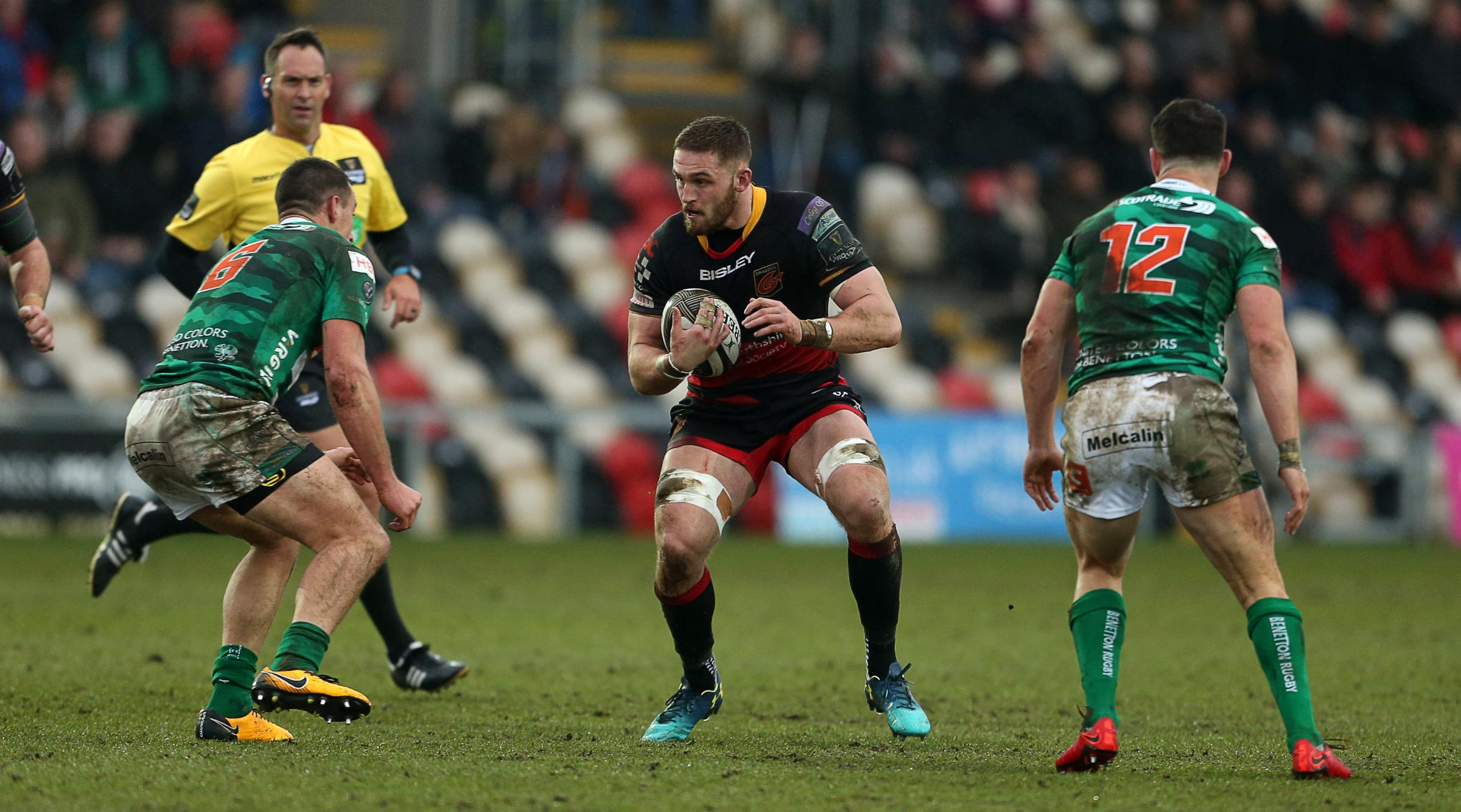 INJURY BLOW: Harri Keddie will miss the Dragons' game at Zebre