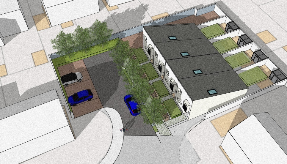 INNOVATIVE: Designs have been released for the proposed bungalows in Elm Road, Caldicot. Pic: Monmouthshire Housing Association/Welsh School of Architecture