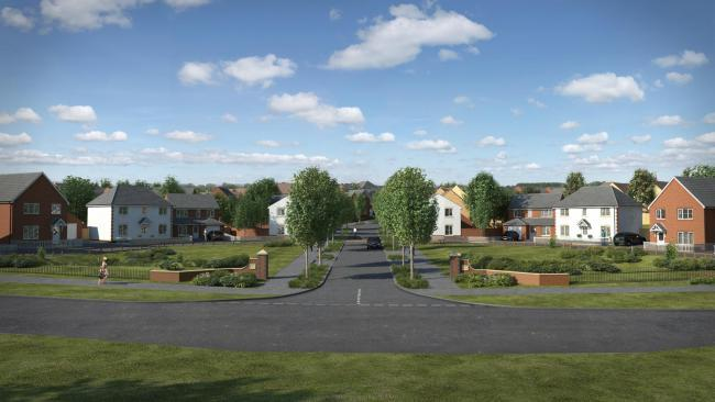 Taylor Wimpey's artists impression of the homes at the site of the police college in Cwmbran