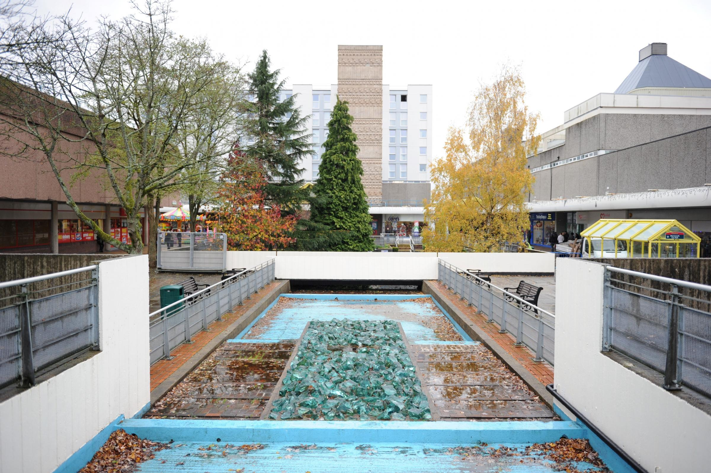 The water gardens at the Cwmbran Centre could be removed