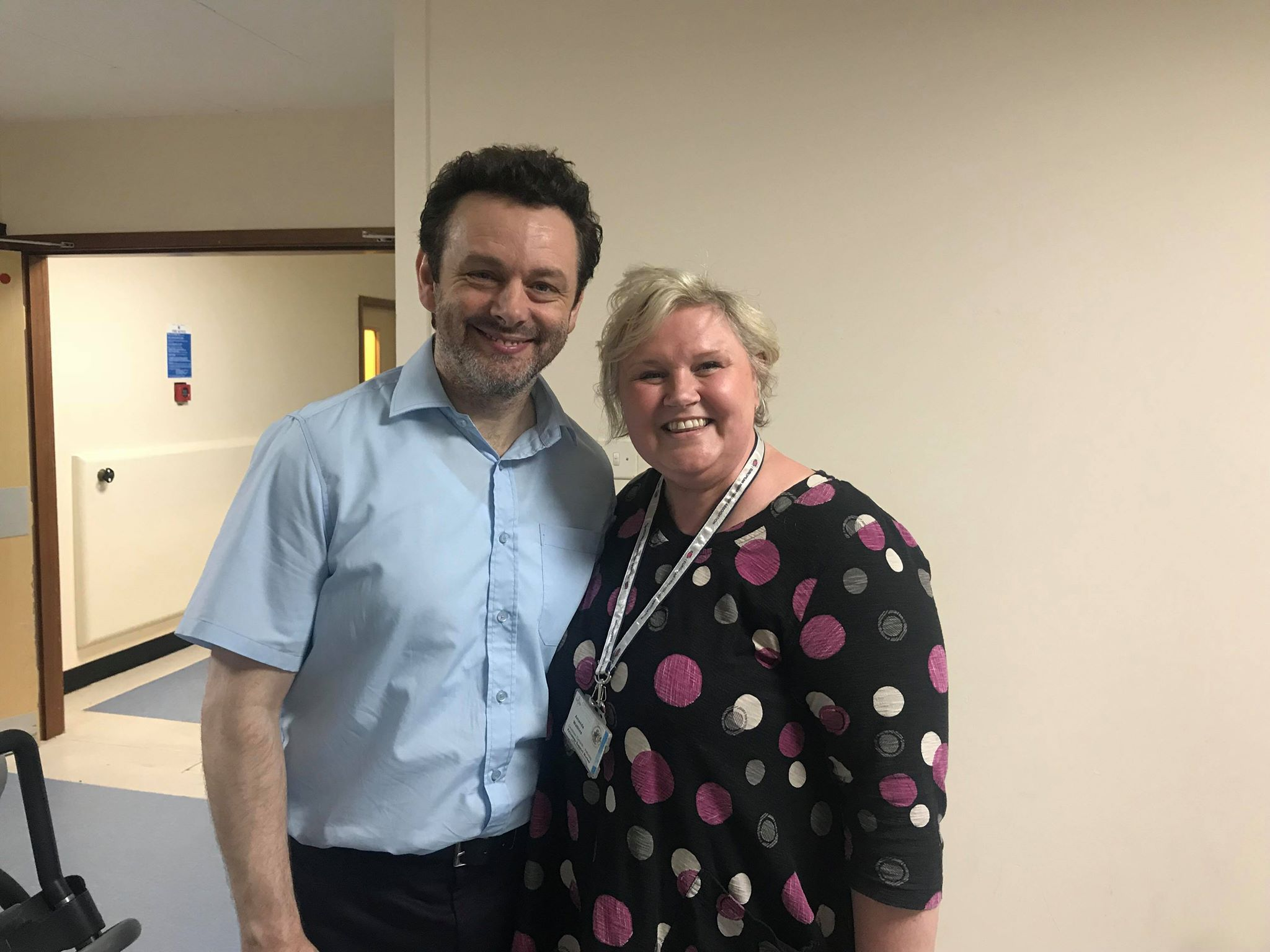 Actor Michael Sheen with Amanda Watkins