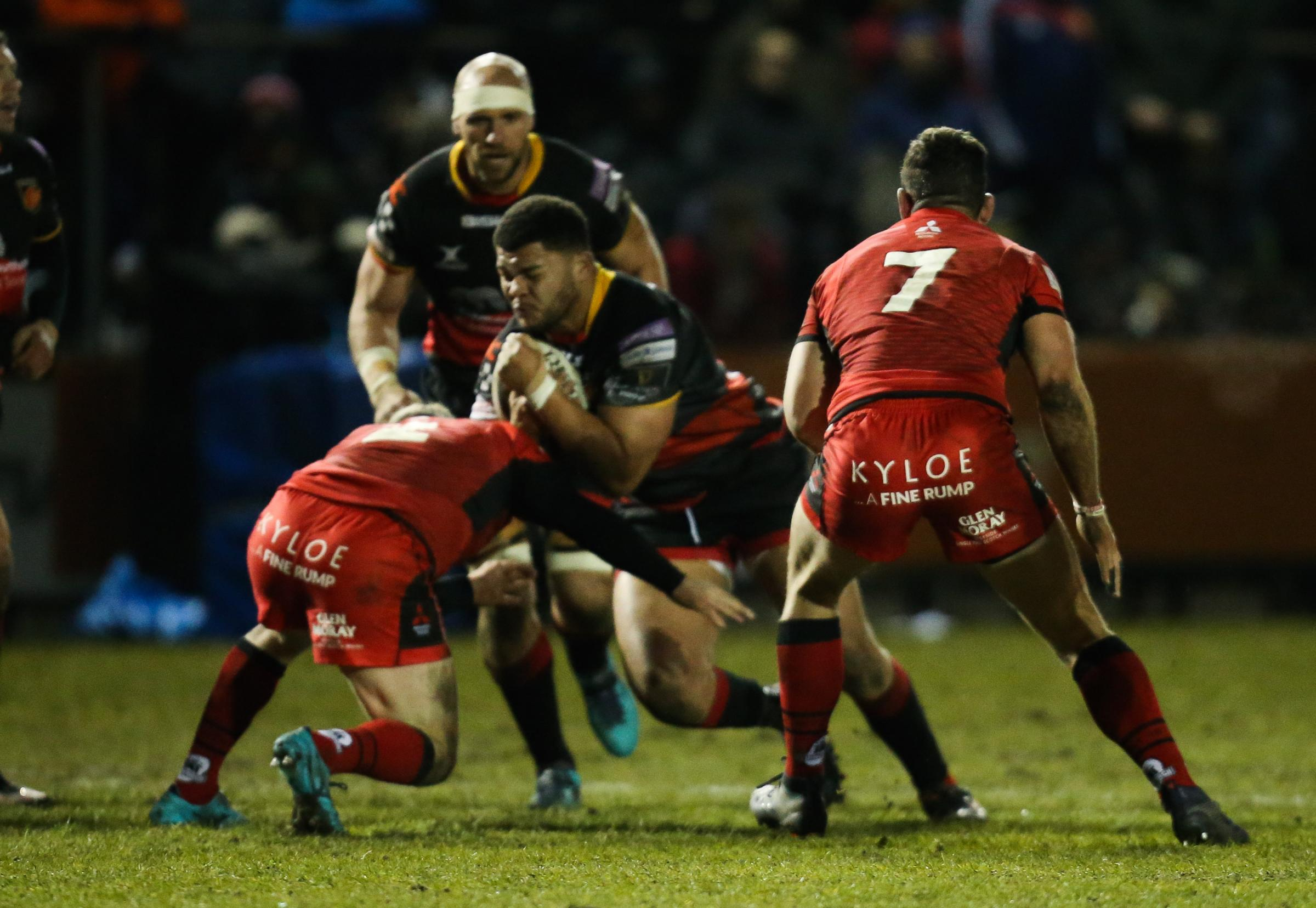 GRUNT UP FRONT: Wales prop Leon Brown believes the Dragons' pack will be a force with added depth next season