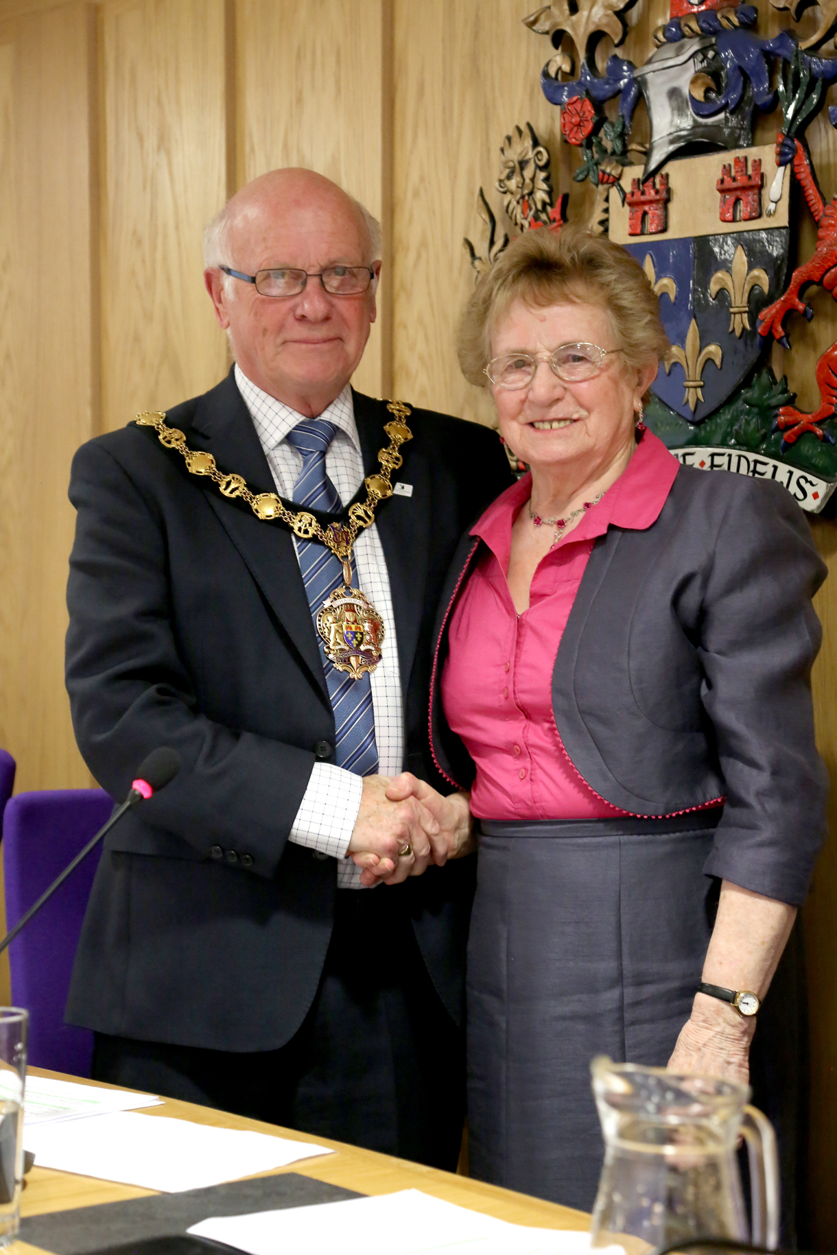 Councillor Peter Clarke with councillor Maureen Powell