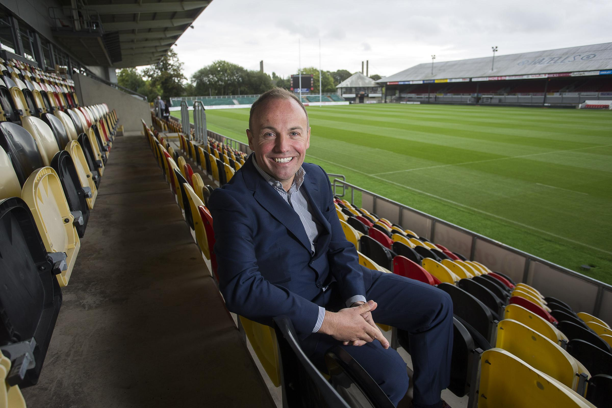 ENCOURAGED: Chairman David Buttress is pleased with the Dragons' season ticket sales, but knows results must improve