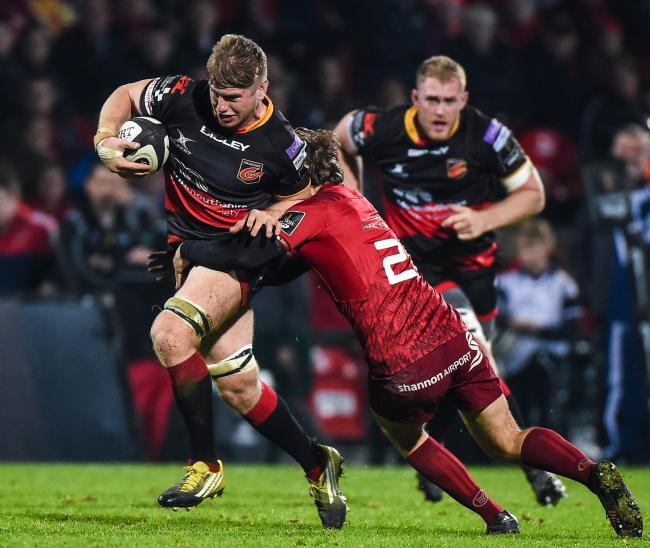 RISING STAR: Flanker Aaron Wainwright is set to feature for Wales in his first season of professional rugby with the Dragons
