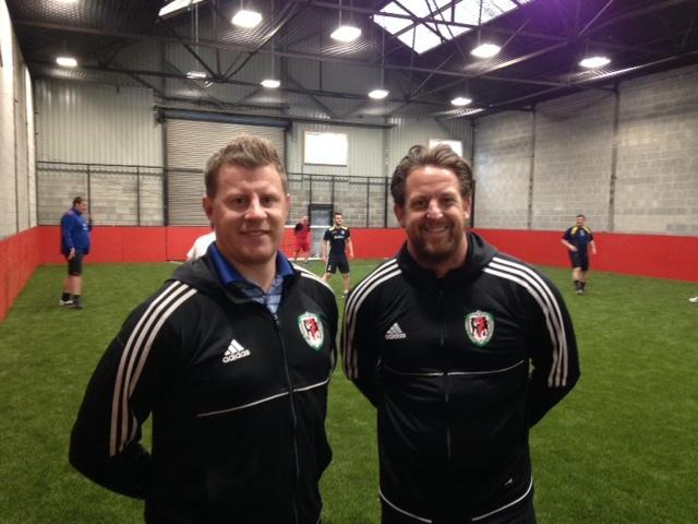 PARTNERS: Paul Parry and Darren Jones at the Newport Indoor Football Centre