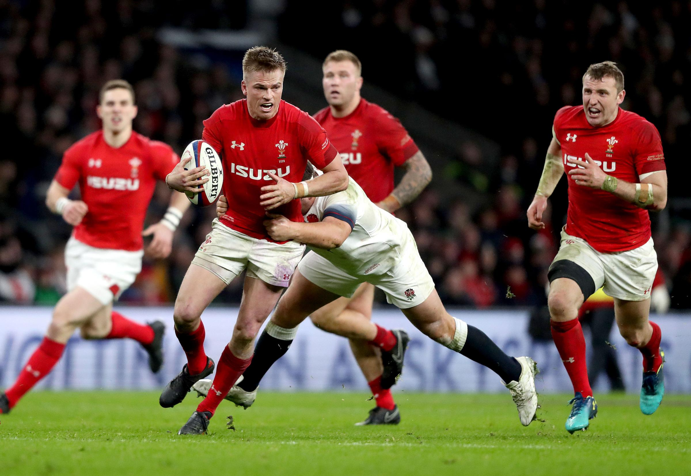 CHANCE AT 10: Fly-half Gareth Anscombe is pulling the strings for Wales this summer