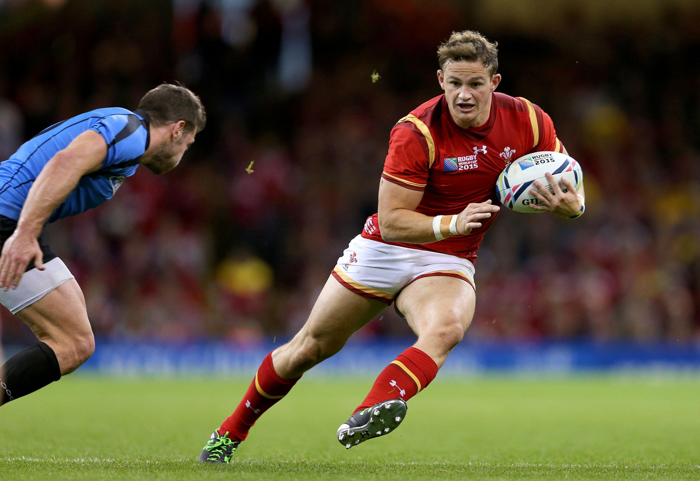 UNDER PRESSURE: Dragons ace Hallam Amos played for Wales at the 2015 World Cup and is chasing a spot at Japan next year