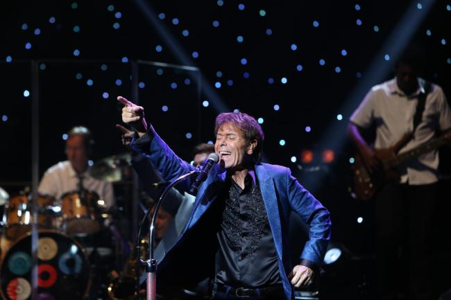 Cliff Richard whose live performance will be broadcast throughout the UK and Ireland