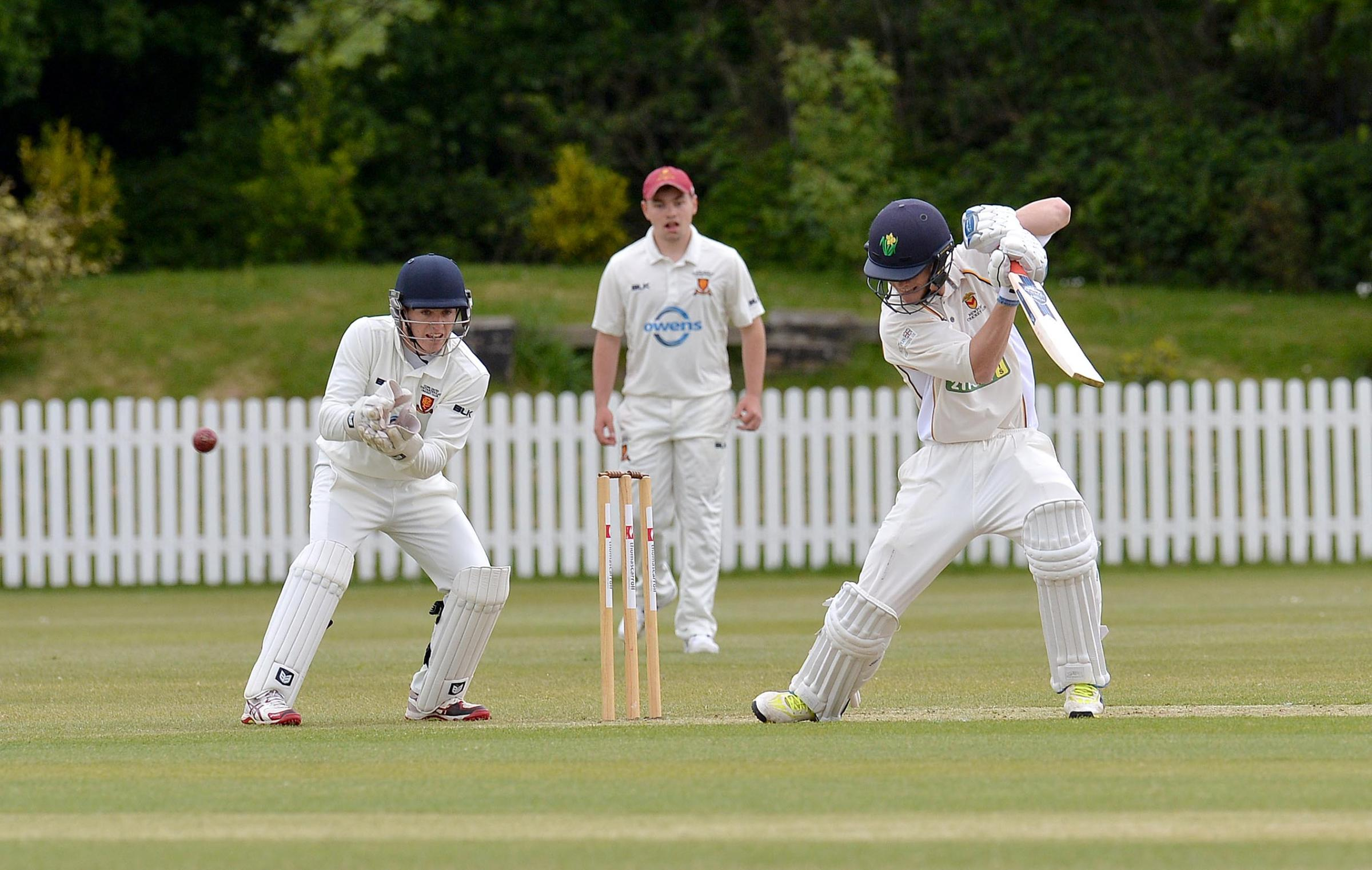 CENTURY-MAKER: Nick Selman, right, scored an unbeaten 113 for Newport last weekend. File picture: www.christinsleyphotography.co.uk