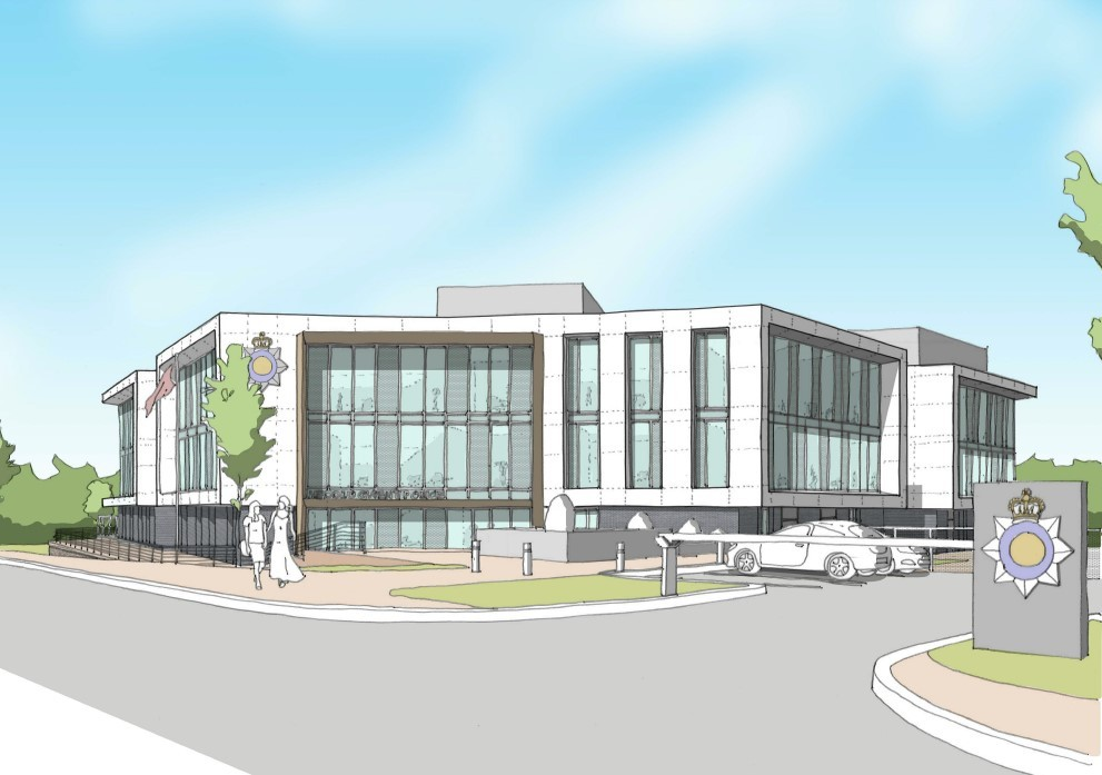 VISION: An image showing how the new headquarters for Gwent Police could look