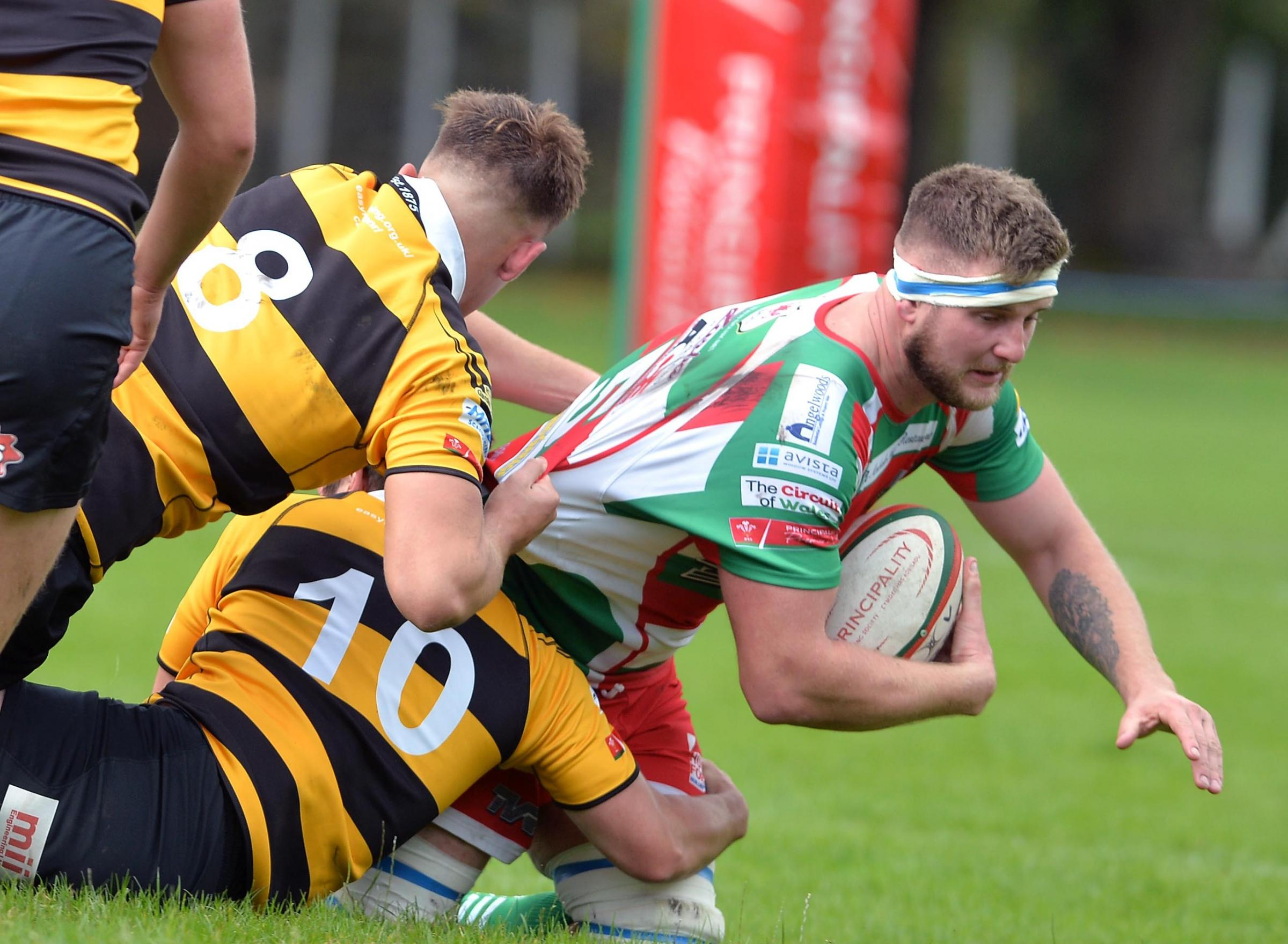 RECALLED: Lance Randall comes into the Ebbw Vale boilerhouse for their game with Bridgend