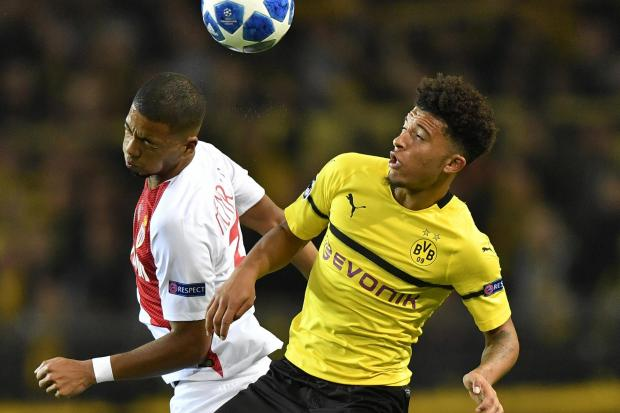 Jadon Sancho, right, created another goal in Borussia Dortmund's win over Monaco