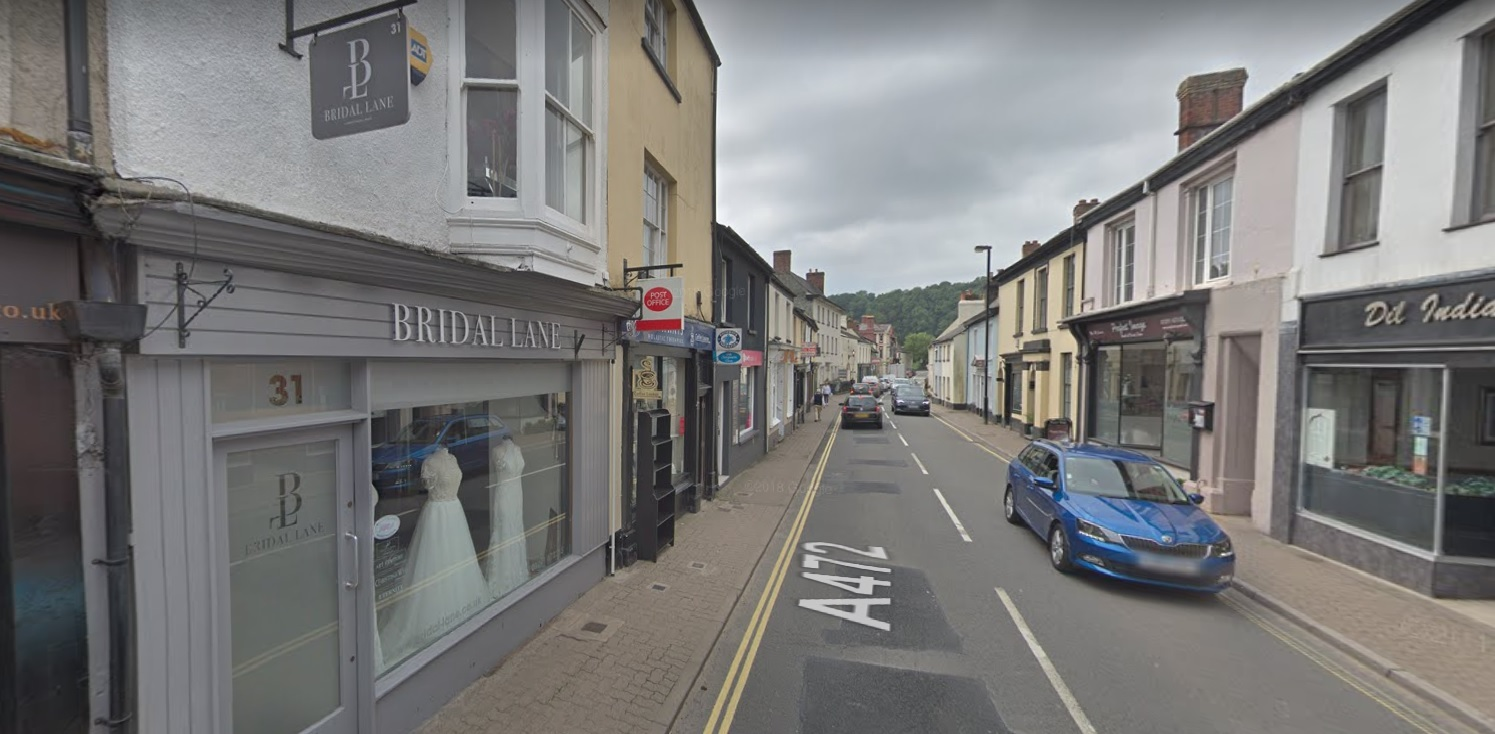 The post office in Bridge Street, Usk: Picture: Google