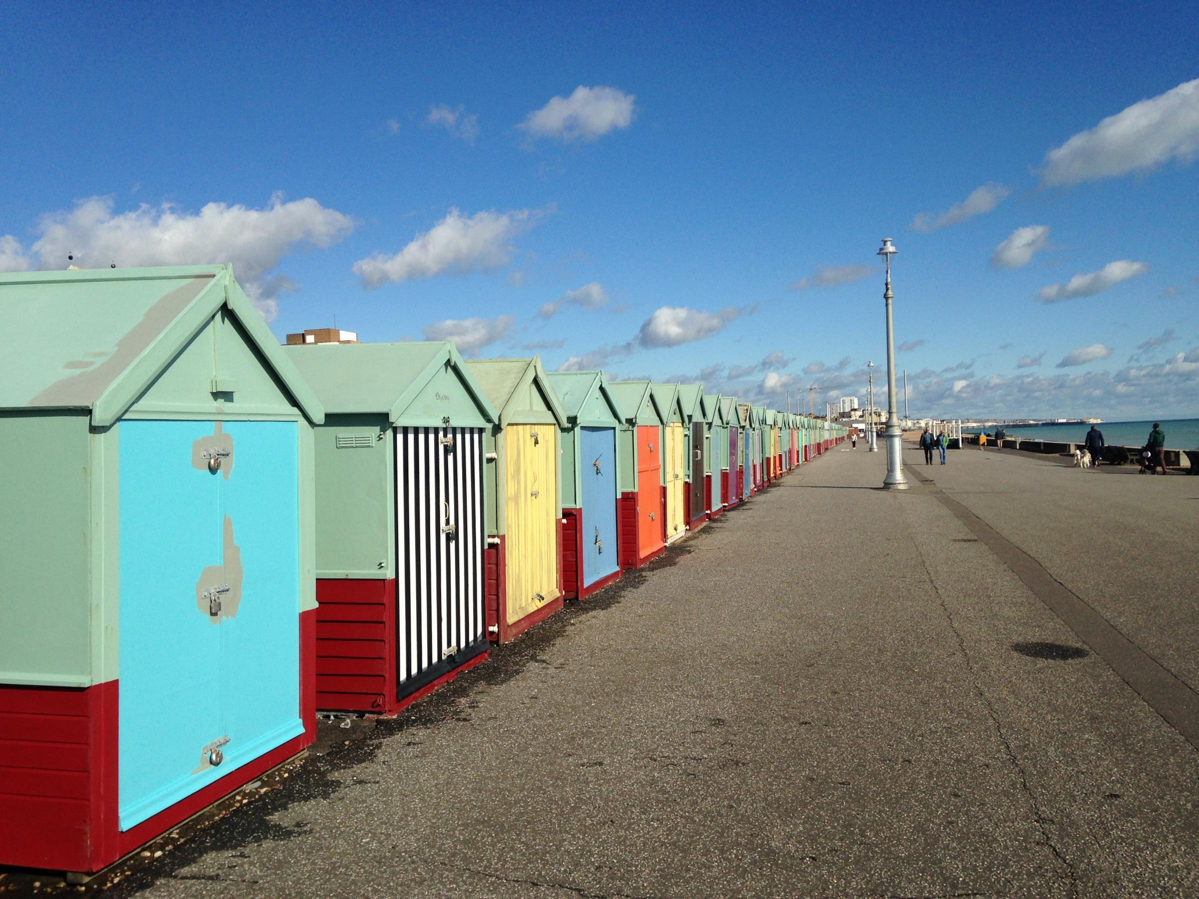 Colourful beach huts, Brighton. Picture: DBPR