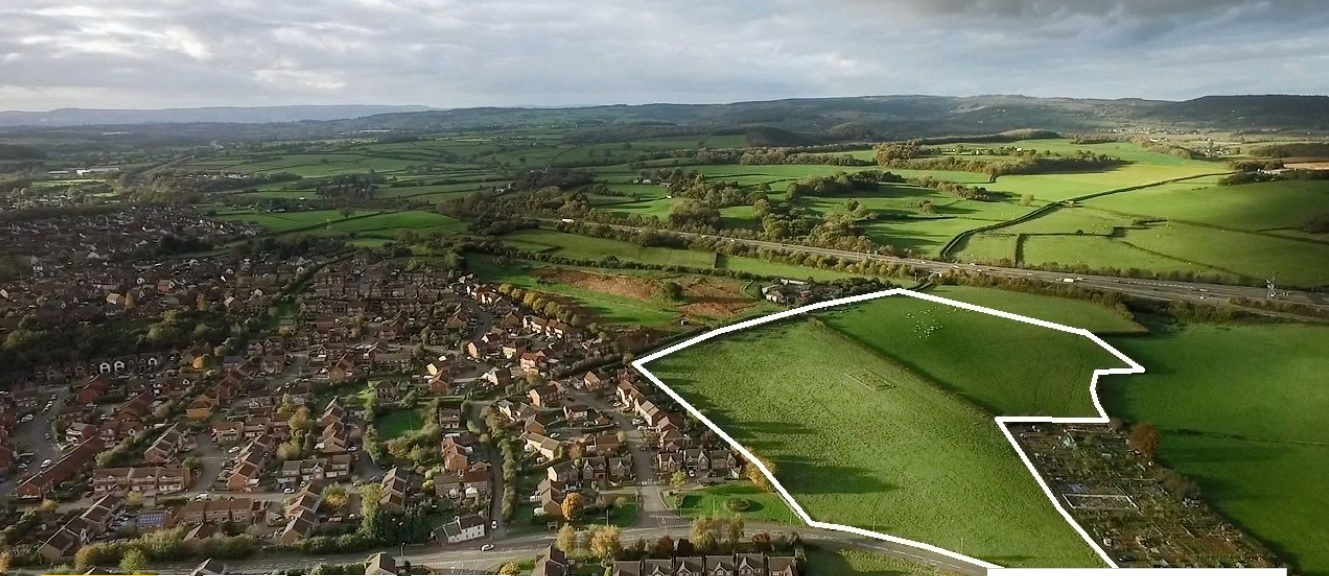 The site at Rockfield Farm in Undy. Picture: Savills