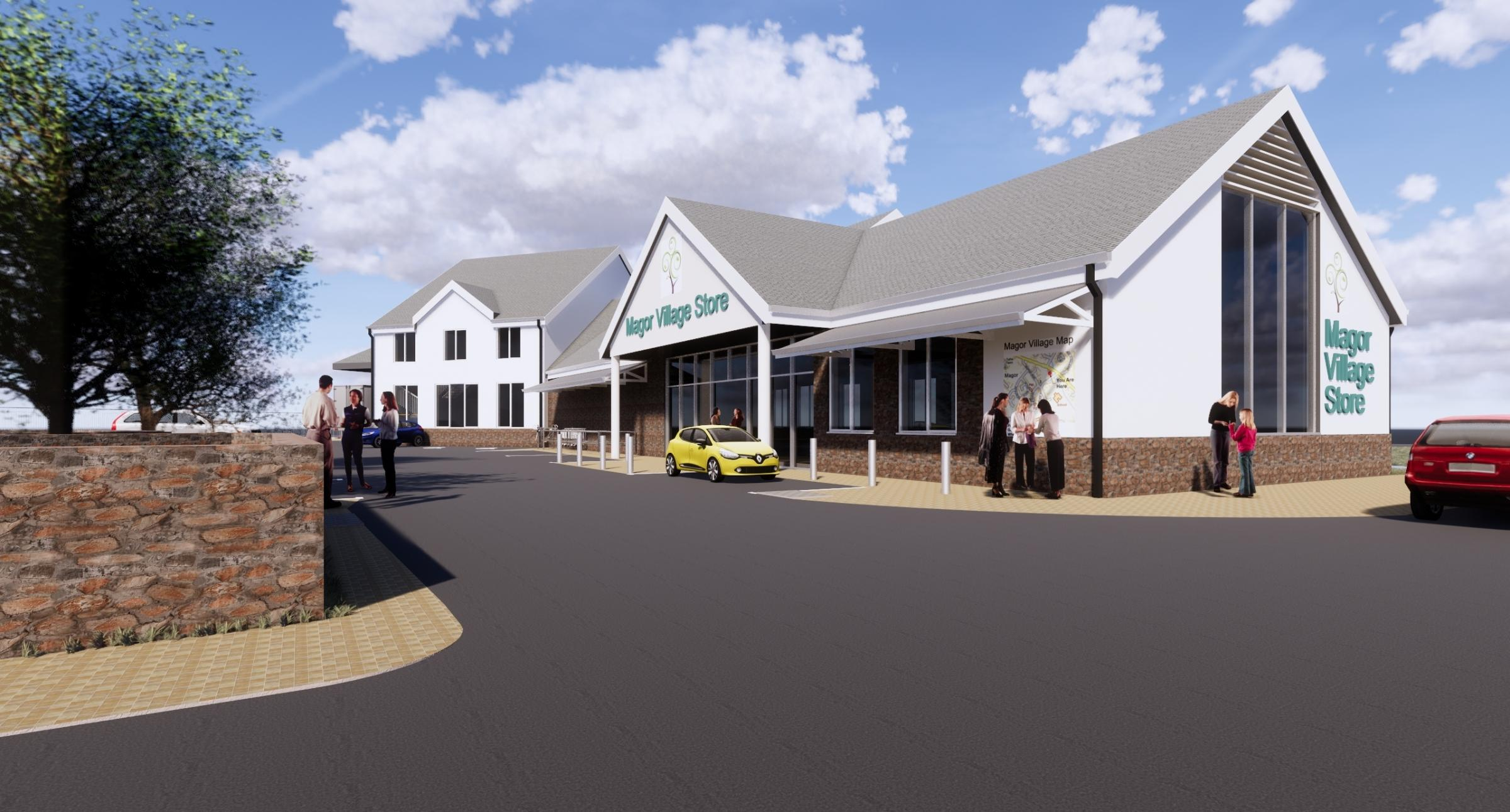 An image showing how the proposed store could look