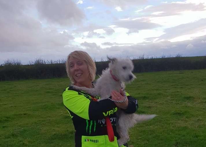 Sue Jones and Dewi were re-united after a three-day search