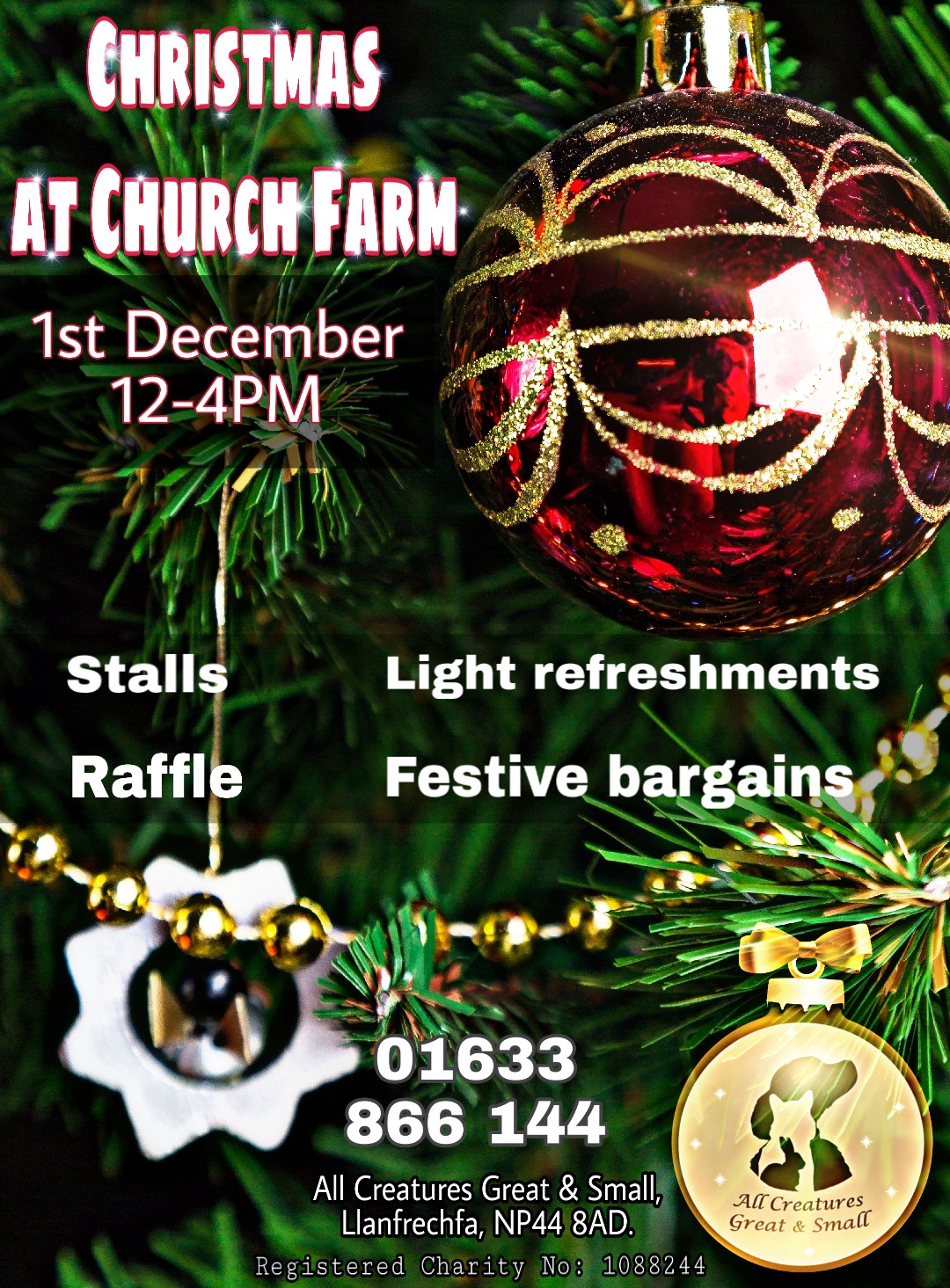 Christmas at Church Farm on 1 December at 12:00