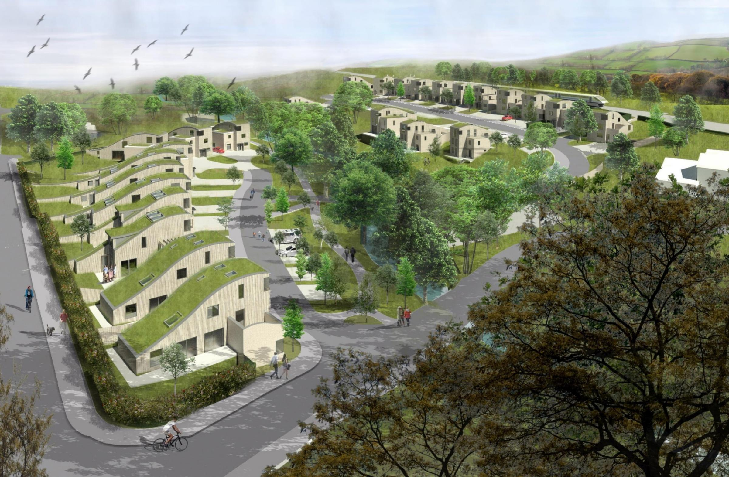 An image showing how the proposed eco homes could look