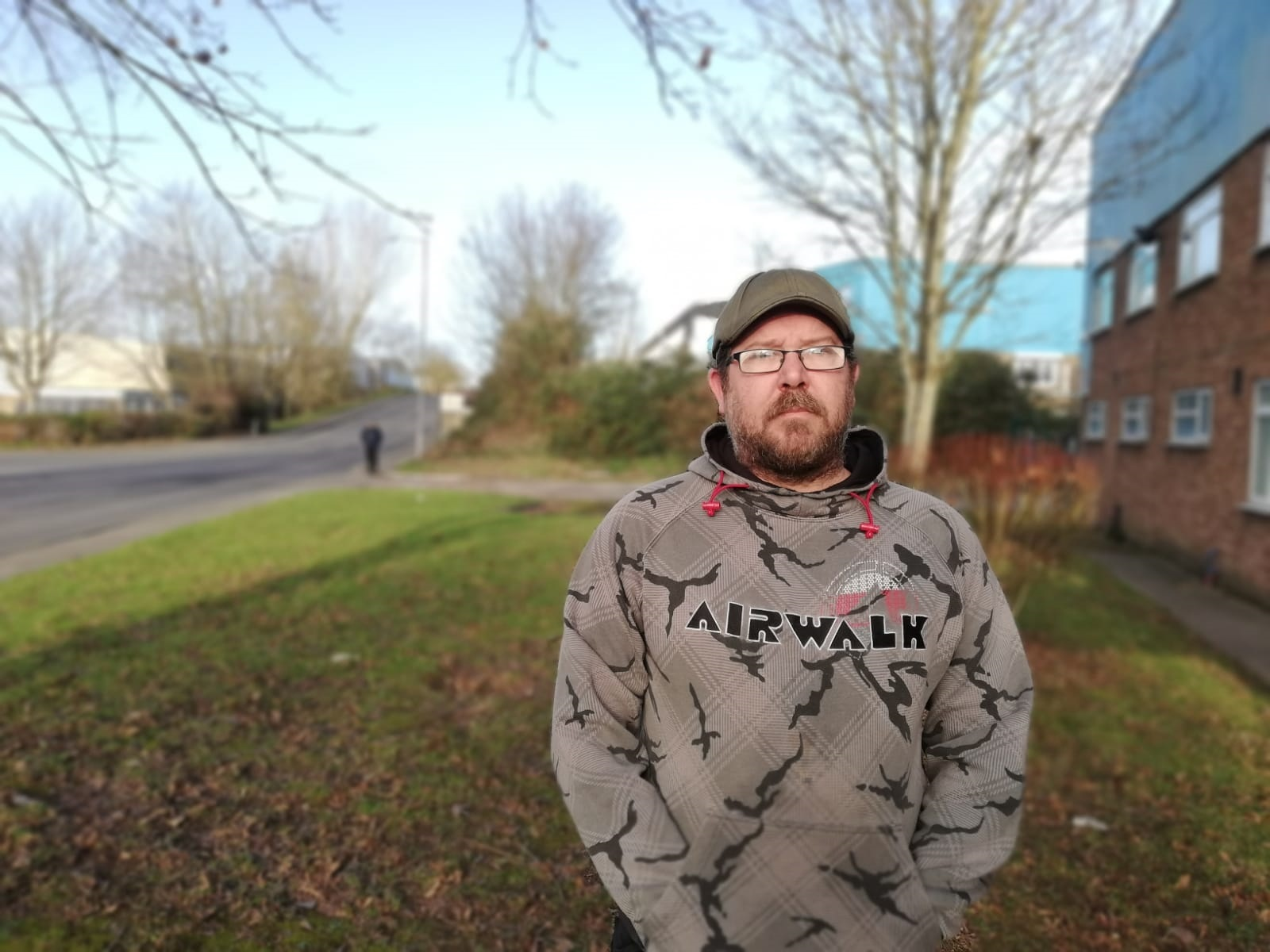 Shane Harris said his family was 'panicking' after a paperwork problem left them on the verge of eviction. Picture: Nicholas Thomas