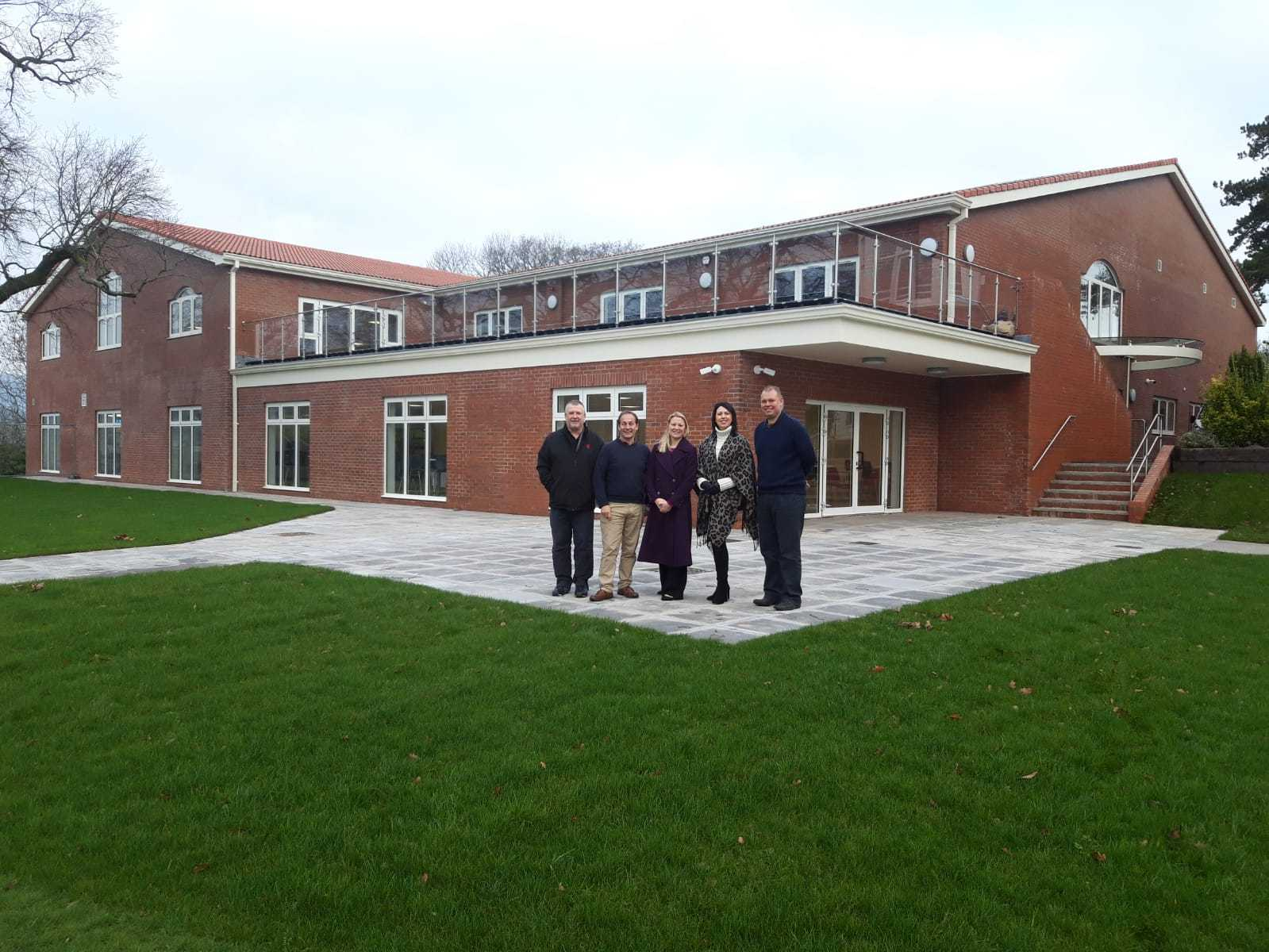Andrew Watts (Facilities Manager), Robert Carnevale (Headmaster), Zoe Mott (NatWest Senior Relationship Manager), Lisa Pritchard (Head of Prep School), Andrew Knight (Director of Business and Finance)