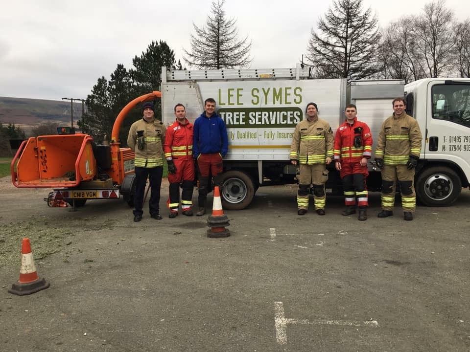 Lee Symes was helped by local Firefighters at the event, which raised money for the Firefighters charity. Picture: Lee Symes