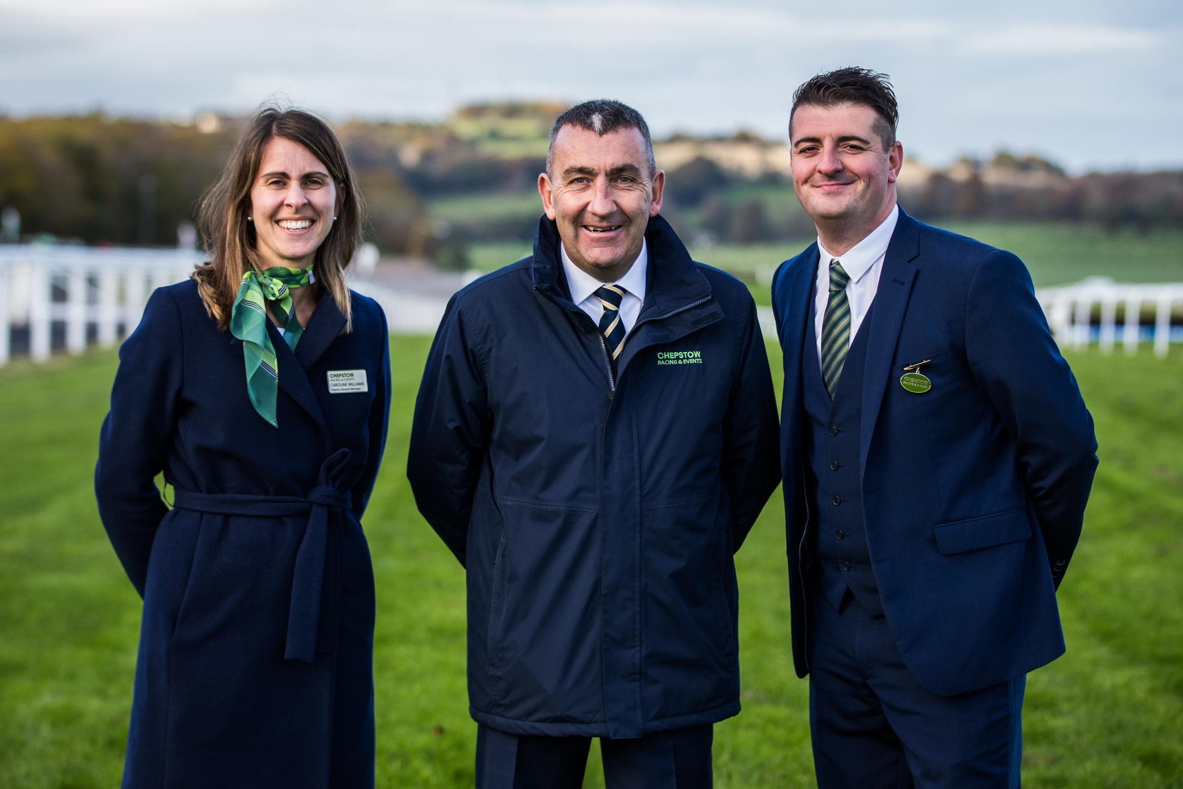 Caroline Williams, General Manager at Chepstow, Phil Bell, Executive Director and Simon Rowlands, General Manager at Ffos Las