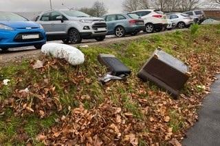 The club have grown frustrated with fly-tipping at their home ground. Picture:Steve Roberts