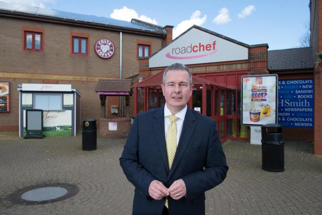 Roadchef chief executive Simon Turl at Magor services on the M4.