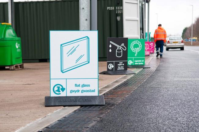 The Household Waste Recycling Centre in Torfaen