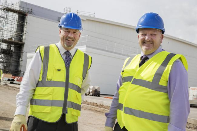 (L-R) Chris Meadows, Head of Open Innovation at IQE and Cllr Peter Fox, Leader of Monmouthshire County Council.